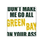 Green Bay Football Square Sticker 3