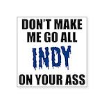 Indianapolis Football Square Sticker 3