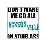 Jacksonville Football Square Sticker 3