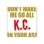 Kansas City Football Square Sticker 3