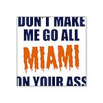 Miami Football Square Sticker 3