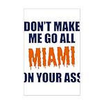 Miami Football Mini Poster Print