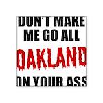 Oakland Football Square Sticker 3