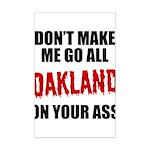 Oakland Football Mini Poster Print