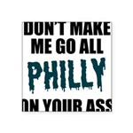 Philadelphia Football Square Sticker 3