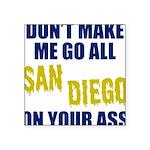 San Diego Football Square Sticker 3