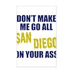 San Diego Football Mini Poster Print
