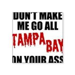 Tampa Bay Football Square Sticker 3