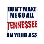 Tennessee Football Square Sticker 3