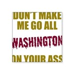 Washington Football Square Sticker 3