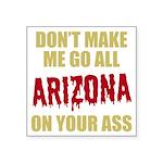 Arizona Baseball Square Sticker 3