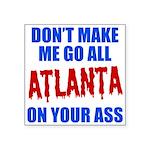 Atlanta Baseball Square Sticker 3