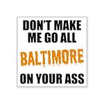 Baltimore Baseball Square Sticker 3