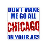 Chicago Baseball Square Sticker 3