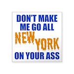 New York Baseball Square Sticker 3