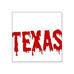 Texas Baseball Square Sticker 3