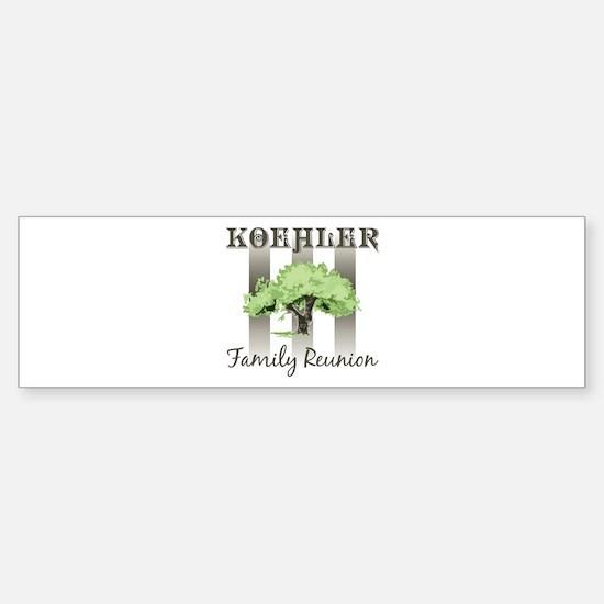 KOEHLER family reunion (tree) Bumper Bumper Bumper Sticker