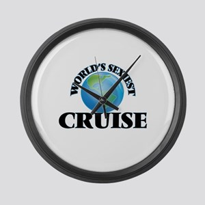 World's Sexiest Cruise Large Wall Clock