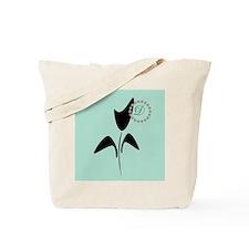 Black Tulip Mint Tote Bag