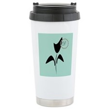 Black Tulip Mint Stainless Steel Travel Mug