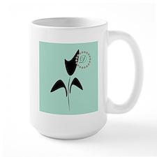 Black Tulip Mint Large Mug