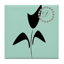 Black Tulip Mint Tile Coaster