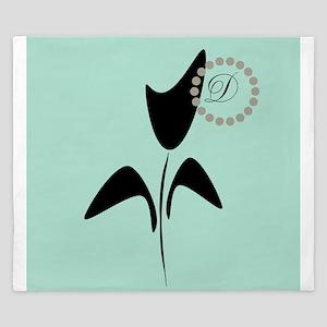 Black Tulip Mint King Duvet