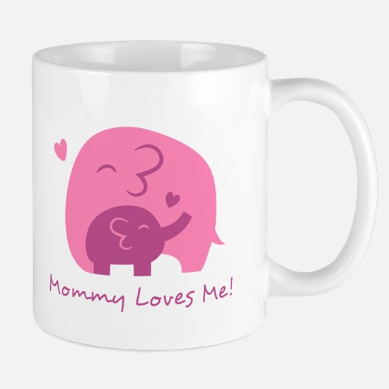 Mommy Loves Me, Cute Elephant and Baby Mugs