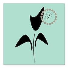 Black Tulip Mint Square Car Magnet 3