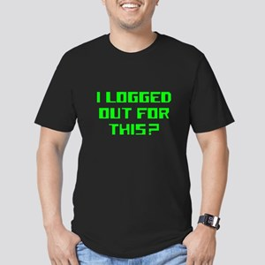 I logged out for this Men's Fitted T-Shirt (dark)