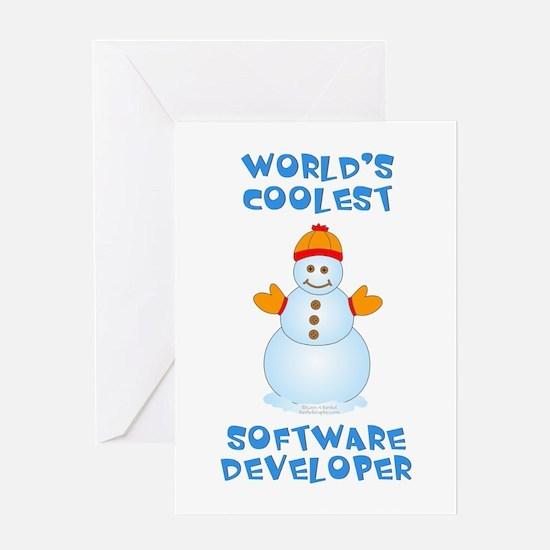World's Coolest Software Developer Greeting Card