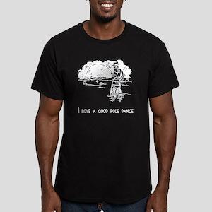 I love a good pole dan Men's Fitted T-Shirt (dark)