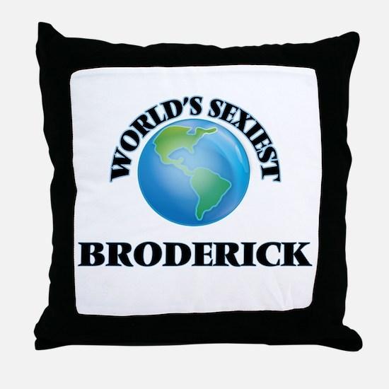 World's Sexiest Broderick Throw Pillow