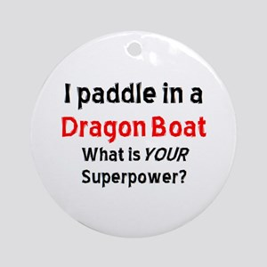 Paddle Dragon Boat (round) Round Ornament