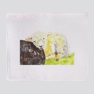 Lamb resting Throw Blanket