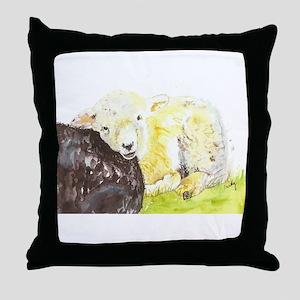 Lamb resting Throw Pillow