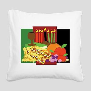 Kwanzaa Design Square Canvas Pillow