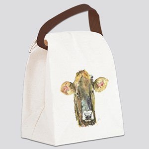 Cow face Canvas Lunch Bag