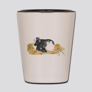 Rats cuddling Shot Glass