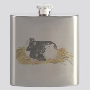 Rats cuddling Flask