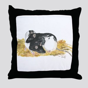 Rats cuddling Throw Pillow