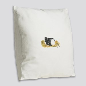 Rats cuddling Burlap Throw Pillow