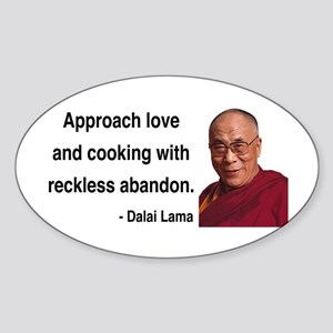 Dalai Lama 10 Oval Sticker