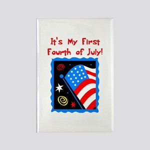 My First 4th of July Rectangle Magnet