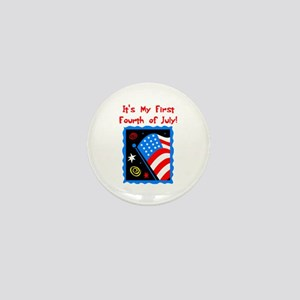 My First 4th of July Mini Button
