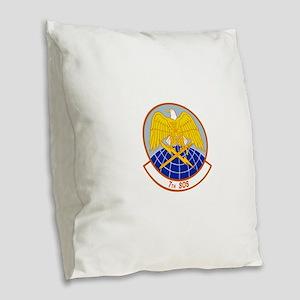 7th_sos Burlap Throw Pillow