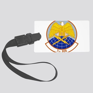 7th_sos Large Luggage Tag