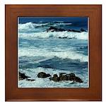 Pacific Ocean Waves Framed Tile