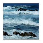 Pacific Ocean Waves Tile Coaster