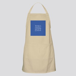 Cute Bows Blue Apron
